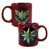 Captain Marvel Badge Ceramic Mug
