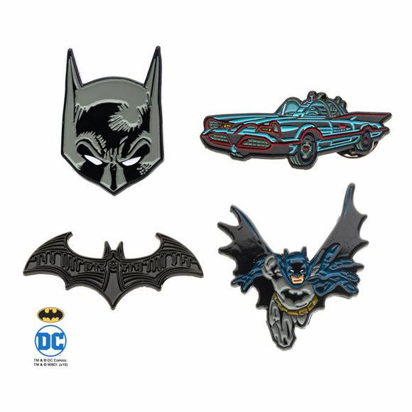 Batman Enamel Pin 4-Pack