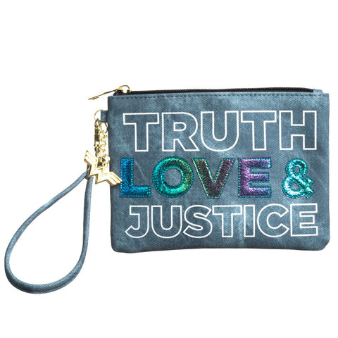 Wonder Woman Truth, Love & Justice Denim Clutch