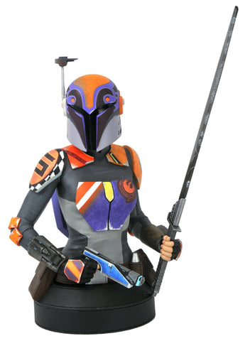 Sabine Wren Mini Resin Star Wars Rebels Mini Bust by Gentle Giant