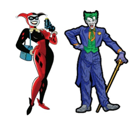 Harley Quinn & Joker Pin Set