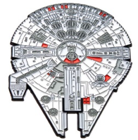 "Millennium Falcon Large 3"" Pin"