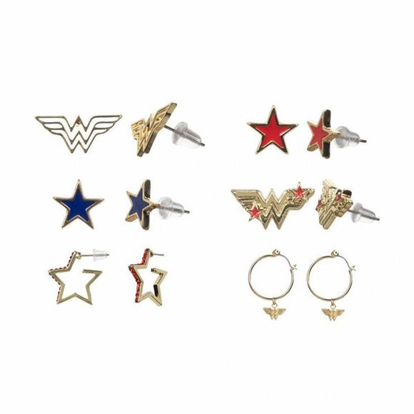 Wonder Woman Earrings 6 Pack
