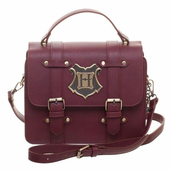 Harry Potter Hogwarts Maroon Satchel Handbag