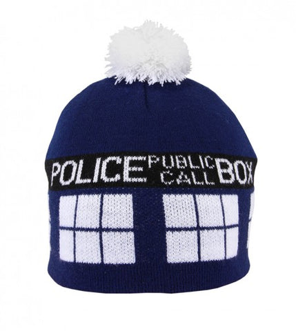 Doctor Who Tardis Knit Pom Beanie