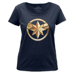 Marvel's Captain Marvel Logo Ladies Shirt