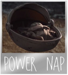 "Celebrating The Child from Star Wars: The Mandalorian   Baby Yoda in Cradle ""Power Nap"" Metal Pin."