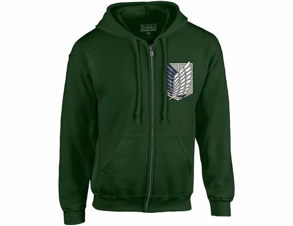 Attack on Titan Scout Regiment Survey Corps Zip Hoodie