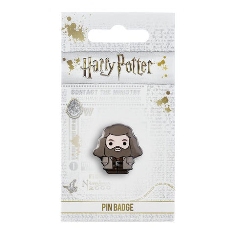 "Hagrid Pin Badge  This Harry Potter Pin Badge has been created using the official style guide from Warner Bros.  Enamel Pin Details:  Around .75"" tall and .5"" wide (20mm x 16mm) Beautiful colors protected by a high-gloss finish Enamel pin arrives on a printed Harry Potter card backer Quality metal badge pin with butterfly clutch backing"