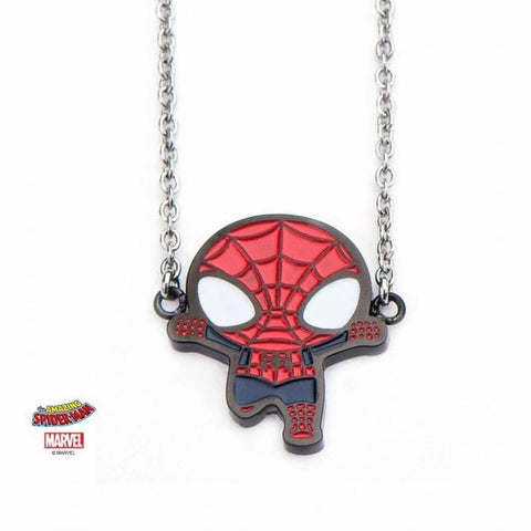 Spider-Man Pendant Necklace with Stainless Steel Chain