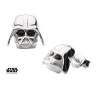 Darth Vader Sterling Silver Stud Earrings
