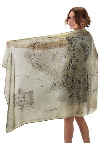 Middle Earth Map Fashion Scarf