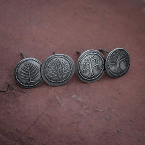 Silver Farthing Post Earrings from The Shire