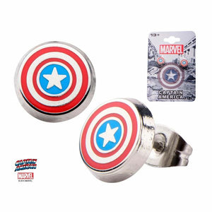 Captain America Logo Earrings