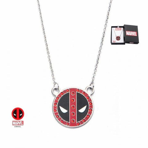 Deadpool Necklace with Gem