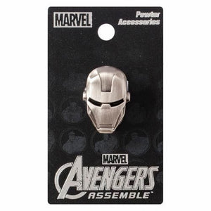 Iron Man Head Pewter Lapel Pin
