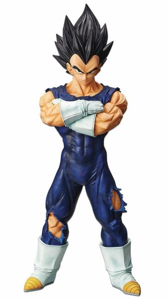 From Banpresto. The Dragon Ball Z Grandista line from Banpresto is quickly becoming a fan favorite with its incredible value for its size and figure styling. This next figure in the collection is none other than the super power Prince of Saiyans and frenemy that fans can't get enough of, Vegeta! Standing at 10 1/4