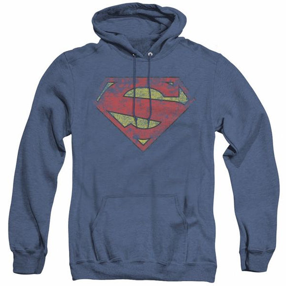 Superman Blue Heather Pull Over Hoodie