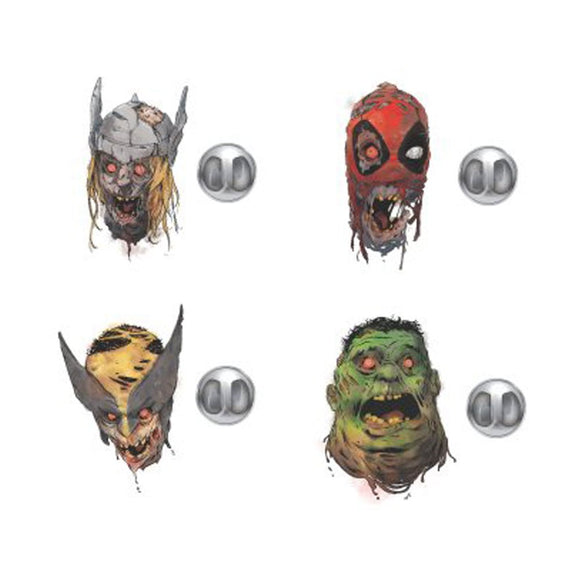 Marvel Zombie Pin 4 Pack