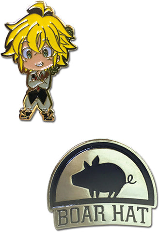 Meliodas & Boar Metal Pin Set