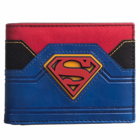 Superman Mixed Material Bi-fold Wallet