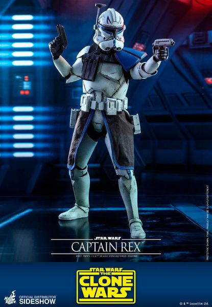 Star Wars Clone Captain Rex 1/6th Scale Figure by Sideshow Hot Toys