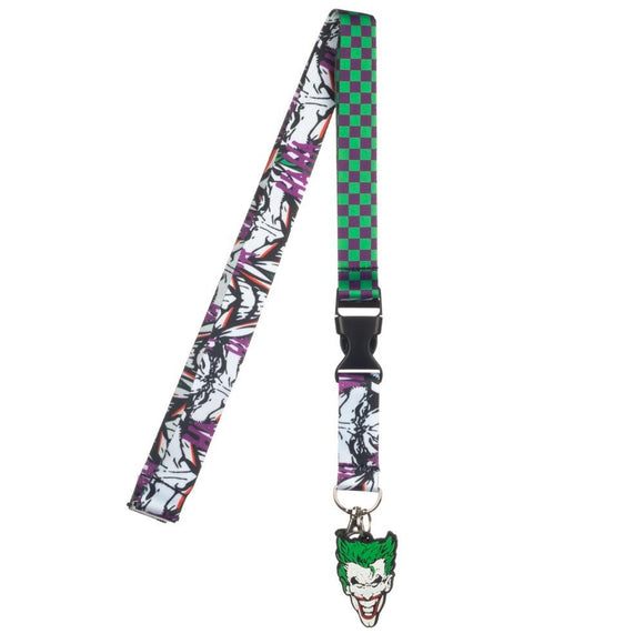 The Joker Green and Purple Lanyard