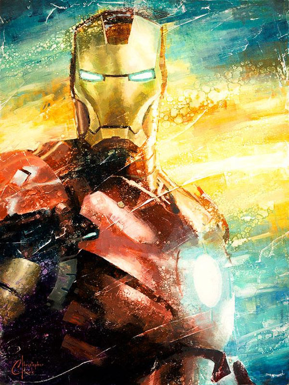 I am Iron Man Art Print by Christopher Clark