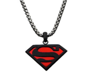 Superman Red/Black Necklace