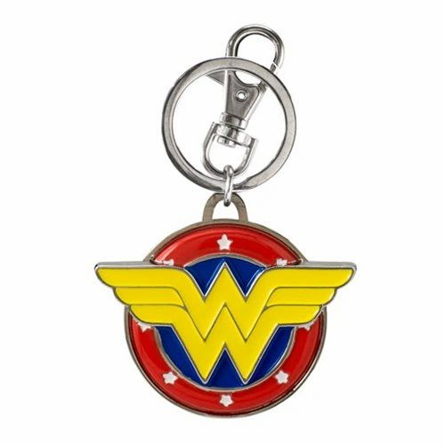 Wonder Woman Comic Logo Metal Keychain