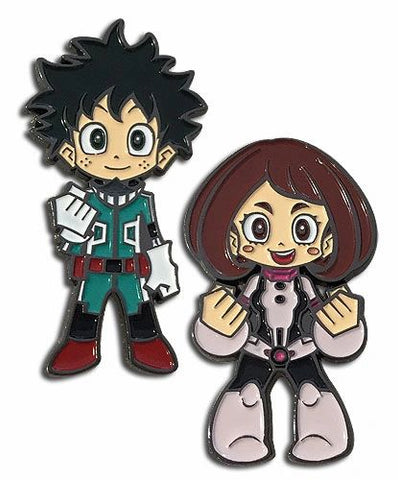 Deku and Uravity My Hero Academia 2-Pack Enameled Metal Pin Set