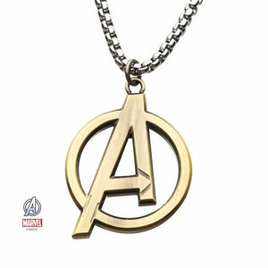 Avengers Logo Gold Plated Necklace