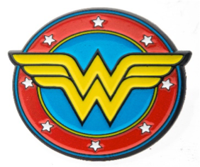 Wonder Woman Comic Logo Pin
