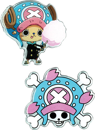 Chopper and Skull Metal Pin 2 Pack