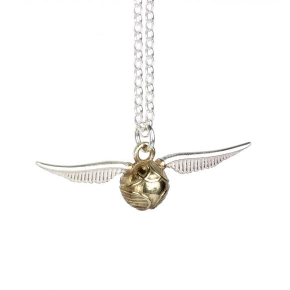 Golden Snitch Necklace in Sterling Silver