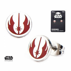 Jedi Symbol Stud Earrings