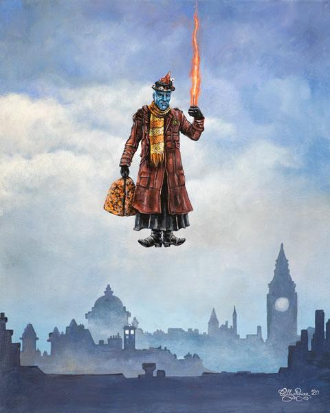 I'm Mary Poppins, y'all! Yondu Poppins Guardians of the Galaxy Marvel Parody Art Print by Ashley Raine