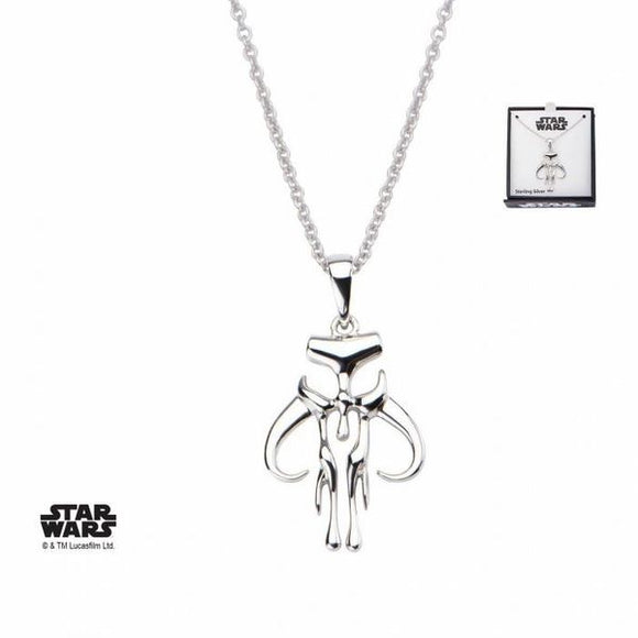 Mandalorian Mythosaur Symbol Sterling Silver Necklace