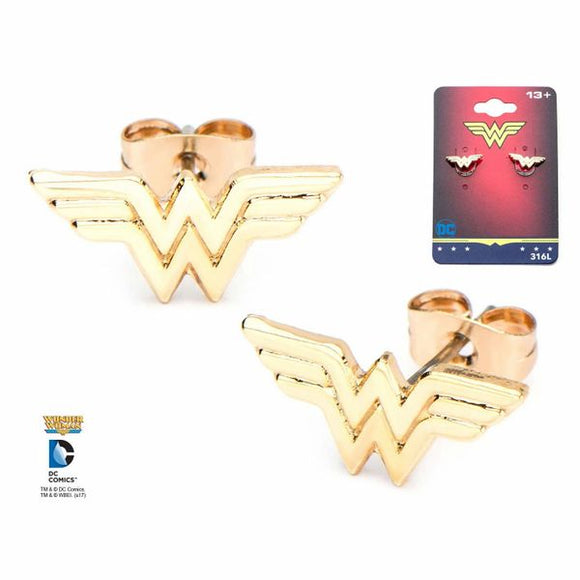 Wonder Woman Logo Stud Earrings