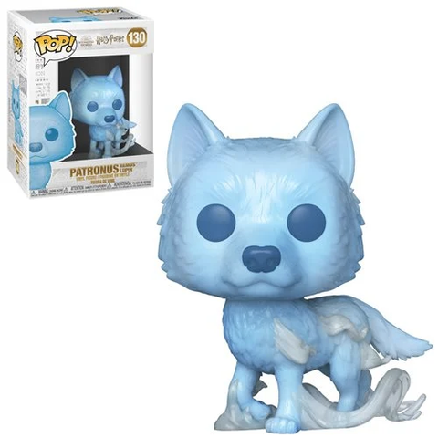 Professor Remus Lupin Patronus Harry Potter Funko Pop!  Well known within the fan and collector world—FunkoPop! vinyl figurines have become a fandom favorite unto themselves!  Most FunkoPop! figures measure approximately 3 3/4-inches tall. With their stylized animated eyes, large heads, and vibrant full-color window packaging, Funko from your favorite fandom are a welcome addition to any space!