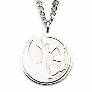 Rebel Alliance And Galactic Empire Symbol Necklace