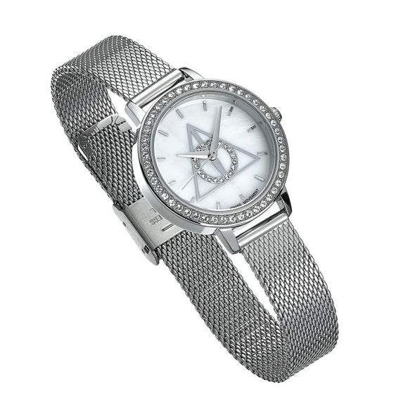Deathly Hallows Silver Watch Embellished with Swarovski Crystals