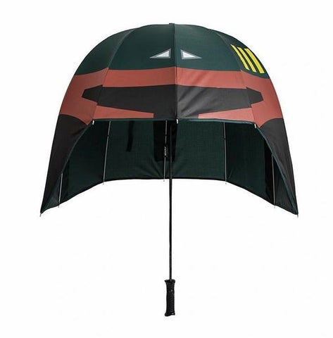 Designed to keep you dry even in the extreme storms on Kamino, our Boba Fett Helmet Umbrella has got you on the rainiest days. Lightweight and inspired by the infamous bounty hunter's helmet, you'll be able to combat the weather just like Boba.