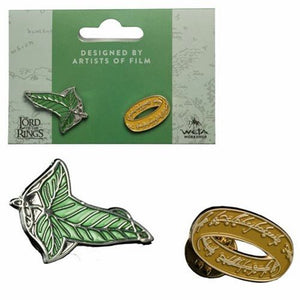 Elven Leaf and One Ring Pin Set