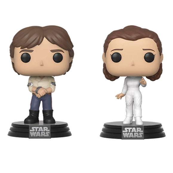 Han and Leia Empire Strikes Back 2 Pack Funko Pop