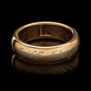 The One Ring in Gold Plated Tungsten