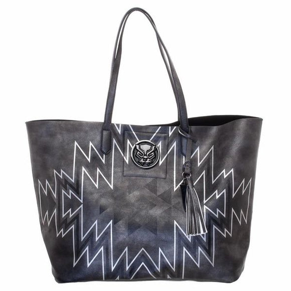 The Black Panther Black Tote PurseMarvel Black Panther Tote Bag