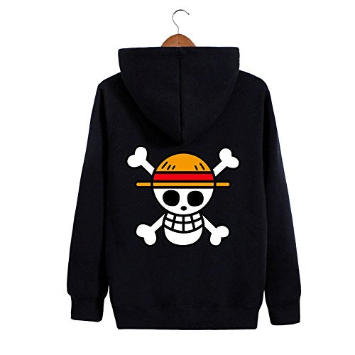 One Piece Luffy Straw Hat Zip Up Hoodie
