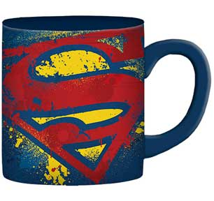 Superman Splatter Paint Logo 14oz. Mug