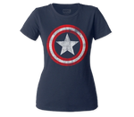 Marvel's Captain America Shield Women's Fit Distressed Shirt